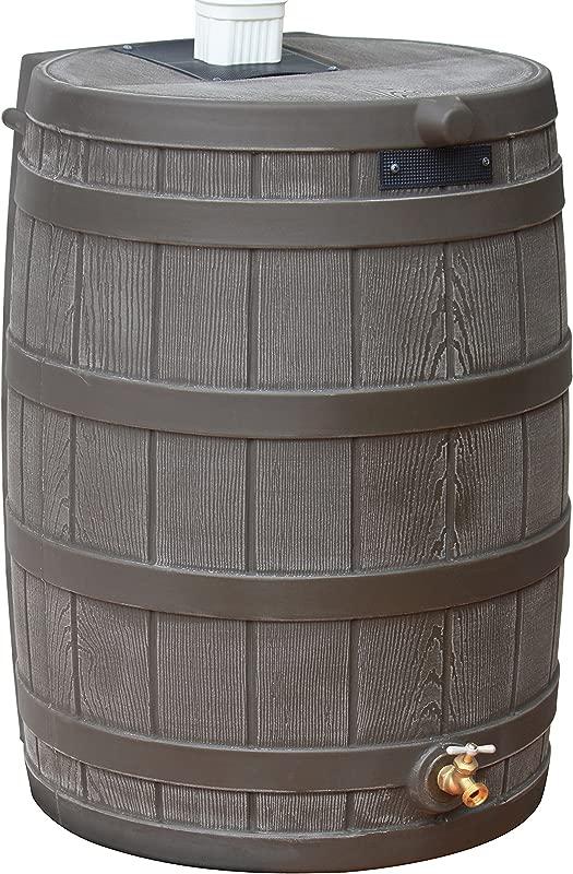Good Ideas RW50 OAK Rain Wizard Rain Barrel 50 Gallon Oak