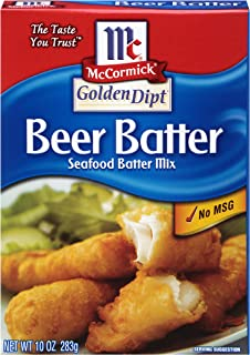 McCormick Golden Dipt Beer Batter Seafood Batter Mix, 10 oz (Pack of 8)