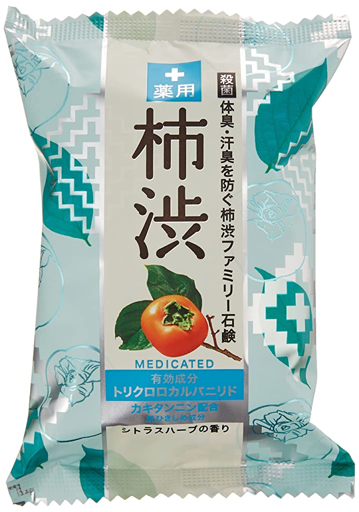 促すホスト排泄するペリカン石鹸 薬用ファミリー 柿渋石けん 80g×2個