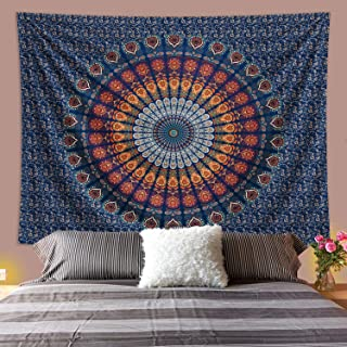 Omskexx Mandala Boho Tapestry Wall Hanging , Aesthetic Tapastry's Wall Hanging Indian Bohemian Tapestry , Huge Window Bedr...