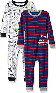 Carter's Baby Boys' 2-Pack Cotton Footless Pajamas