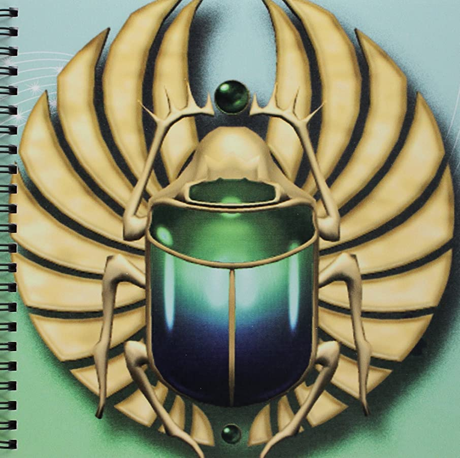3dRose db_108169_1 Egyptian Scarab in Beautiful Colors Drawing Book, 8 by 8-Inch