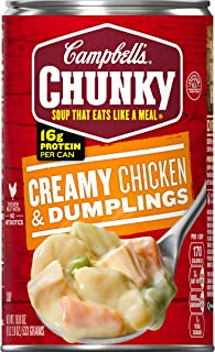 Campbell's Chunky Soup, Creamy Chicken & Dumplings, 18.8 Ounce (Pack of 12)..