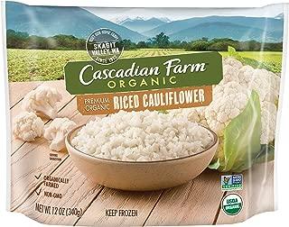 Cascadian Farm Organic Riced Cauliflower, 12oz Bag (Frozen), Organically Farmed Frozen Vegetables, Non-GMO