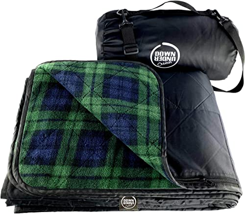 Premium Large Waterproof, Windproof, Quilted Fleece Picnic Rug & Outdoor Blanket for Camping, Beach, Travel, Stadium,...
