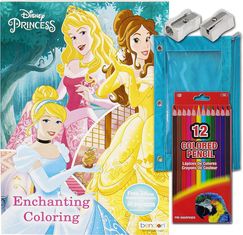 Activity Books San 100% quality warranty! Francisco Mall Princess Enchanting Gigantic Coloring Bo