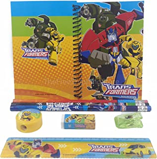 Animated Transformers Stationary Set for Kids Red