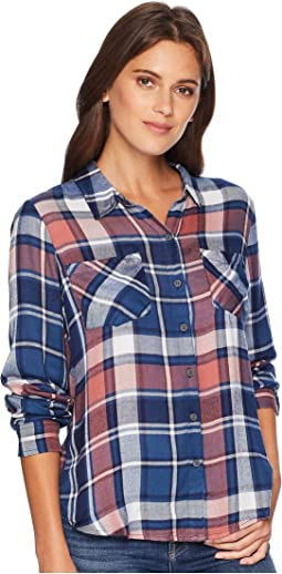 Boyfriend Plaid Top