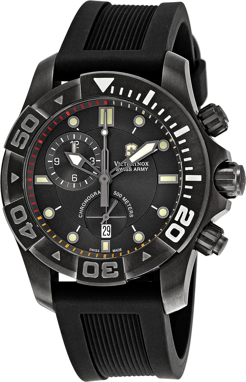 Victorinox Professional 241421 - Reloj cronógrafo de Cuarzo para Hombre, Correa de Goma Color Negro