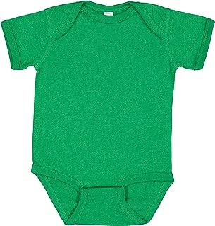 Rabbit Skins Infant 100% Cotton Jersey Lap Shoulder Short Sleeve Bodysuit
