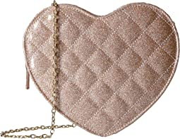 Jessica McClintock - Quilted Heart Shoulder Bag