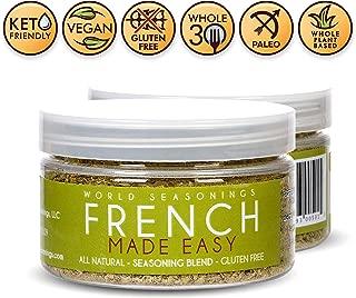 Steak Rub - Herb Mix - Herb Blend - Herbes De Provence Seasoning Vegan - Gluten Free Spices And Seasonings - Vegan Seasoning Mix - French Cuisine - French Food - World Seasonings - FRENCH MADE EASY
