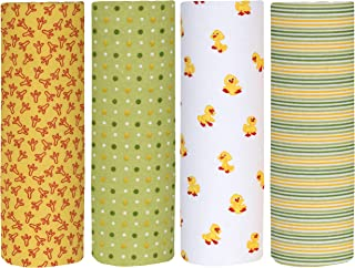 Cuddles & Cribs Cotton Flannel Receiving Blankets - 4 Count, Chicks