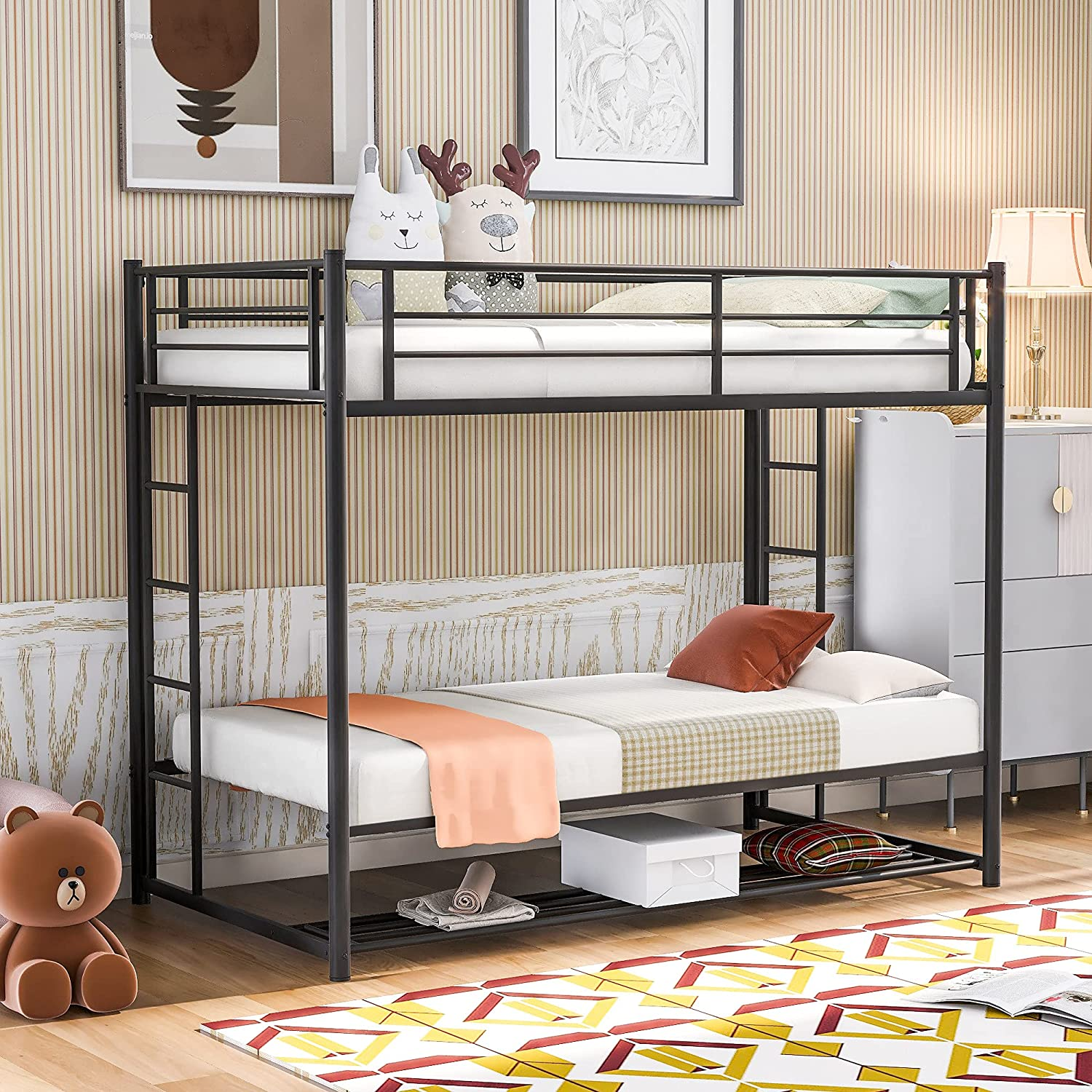 Twin Over Bunk Beds Factory In a popularity outlet Metal Bed Thicken