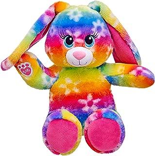 Build a Bear Bright Blooms Rainbow Daisy Bunny 16 in. Stuffed Plush Toy Animal