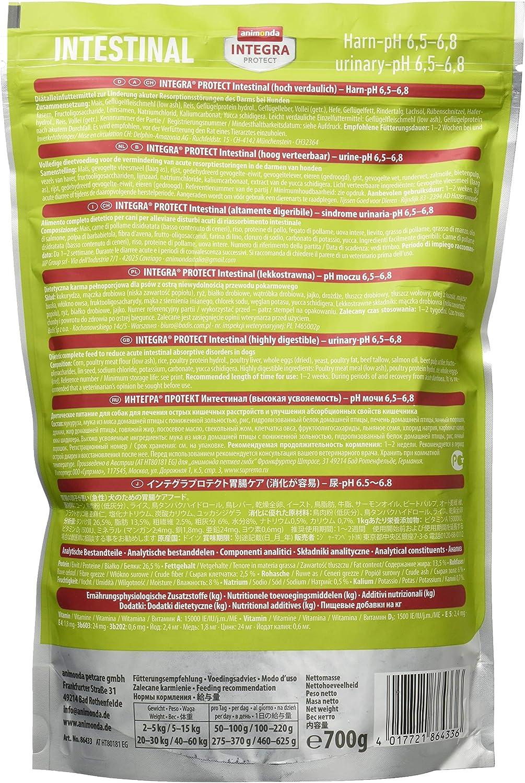 animonda Integra Protect Intestinal para perros, comida dietética para perros, pienso para casos de diarrea o vómitos, 4 kg