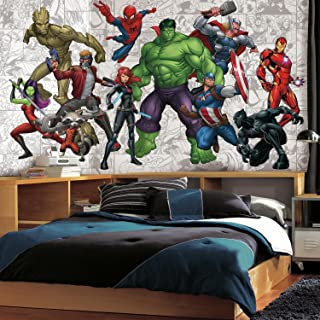 RoomMates Marvel Hero Removable Wall Mural - 10.5 feet X 6 feet