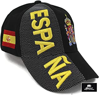 "High End Hats ""Nations of Europe Hat Collection"" 3D Embroidered Adjustable Baseball Cap Includes 1-Year Warranty"