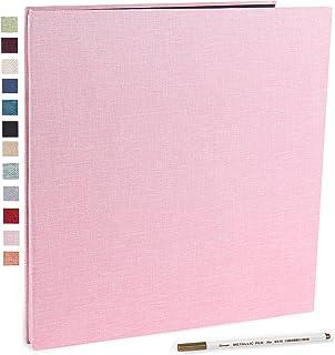 Vienrose Album Photo Adhésif Scrapbooking Magnétique 40 Pages en Lin Relié 28x27 cm avec Un Stylo Métallique pour Mariage ...