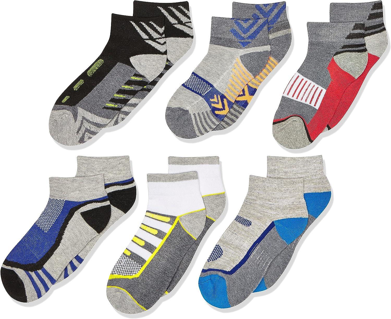 Jefferies Socks Boys' Big Tech Sport Quarter Socks 6 Pair Pack
