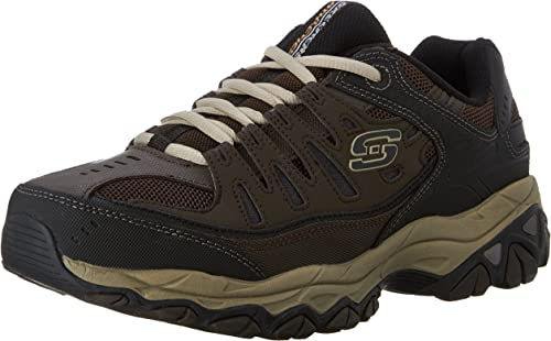 Skechers Sport Hommes's Afterburn Memory Foam Lace-Up paniers,marron Taupe,11.5 M US