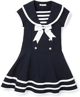 Bonnie Jean Little Girls' Solid Navy Short Sleeeve Nautical Dress,Navy,6