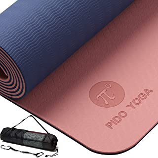 wwww PIDO TPE Yoga Mat ECO Friendly SGS Certified Non Slip Yoga Mats with Carrying Strap and Bag,72
