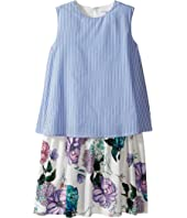 Versace Kids - Layered Striped & Floral Print Dress (Big Kids)