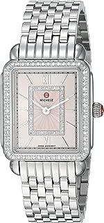 Michele Womens Deco II Mid Blush Diamond Dial Watch