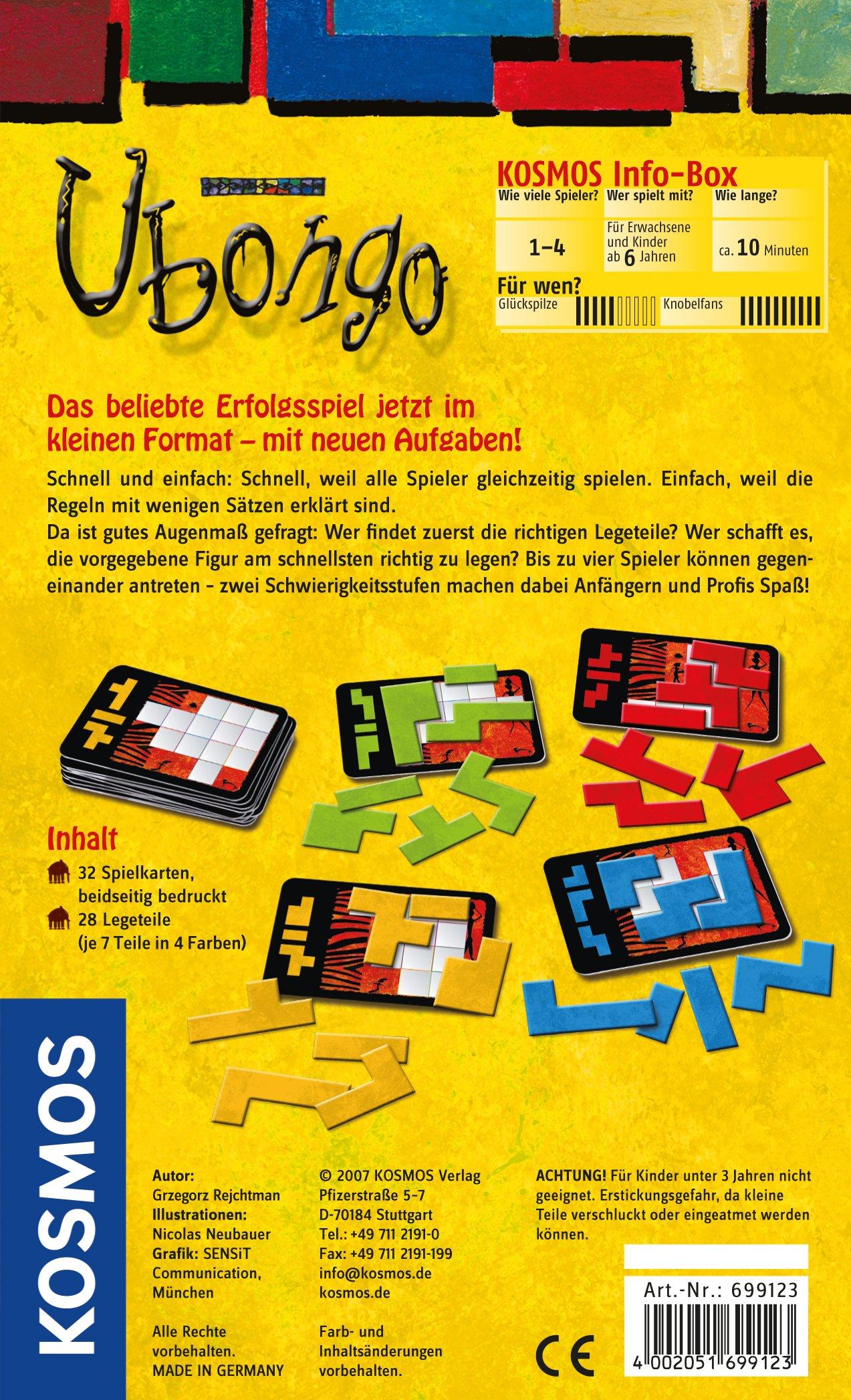 KOSMOS 6991230 Ubongo - Juego de Encajar Piezas (en alemán): Amazon.es: Juguetes y juegos