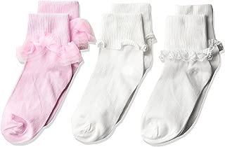 Jefferies Socks Big Ruffle/Ripple Edge/lace Girls Socks 3 Pack