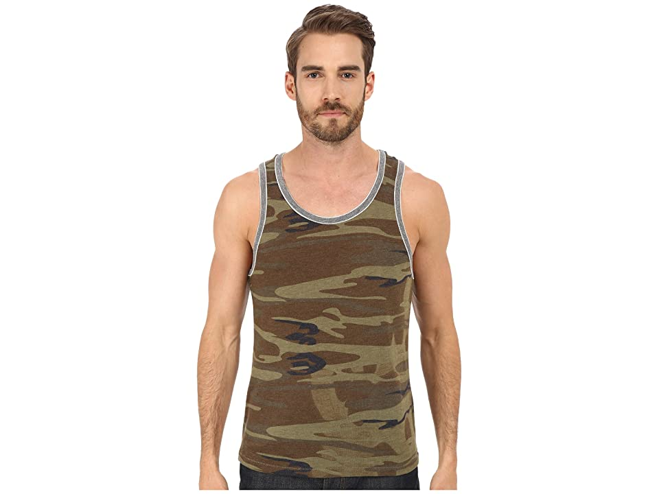 Alternative Double Ringer Tank (Camo/Eco Grey) Men
