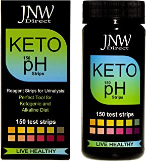 Keto pH Strips, 150 Urinalysis Ketone and pH Test Strips for Testing Urine Ketosis & Body Acidity and Alkalinity, Alkaline & Ketogenic Diet Tester