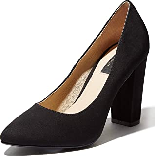 DailyShoes Women's Chunky Heel Round Toe Ankle Strap Pumps Shoes