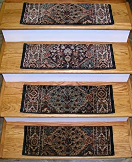 152938 - Rug Depot Traditional Oriental Non Slip Carpet Stair Treads - Set of 13 Treads 26