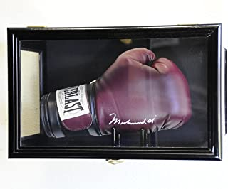 Clear Viewing Boxing Glove Display Case Cabinet Wall Rack/Free Standing