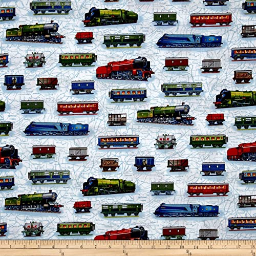 Train Fabric: Amazon com