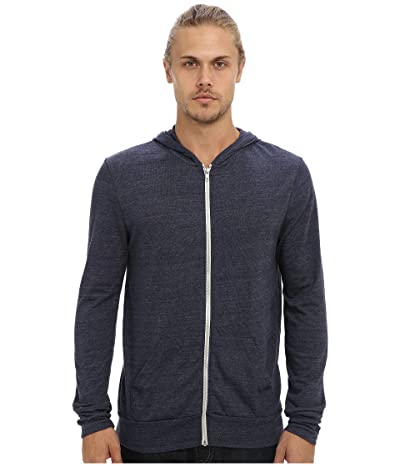 Alternative L/S Zip Hoodie (Eco True Navy) Men