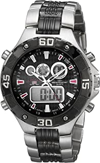 U.S. Polo Assn. Sport Men's US8208EXL Analog-Digital Silver-Tone and Gunmetal Watch