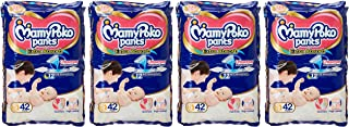 Mamypoko Jumbo Pack, Diaper Pants Extra Absorb, Size Small, 4-8 Kg (168 Counts)