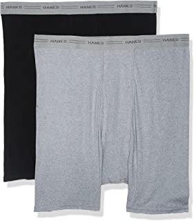 Hanes Mens 2-pack Exposed Waistband Dyed Boxer Briefs 2-pack Exposed Waistband Dyed Boxer Briefs (pack of 2)