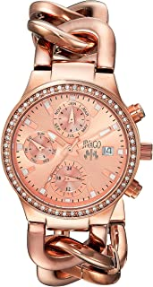 Jivago Women's JV1247 Analog Display Swiss Quartz Rose Gold Watch