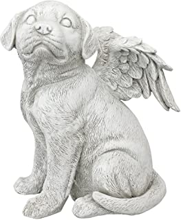 Design Toscano Loving Friend Memorial Pet Dog Statue, Large, Antique Stone
