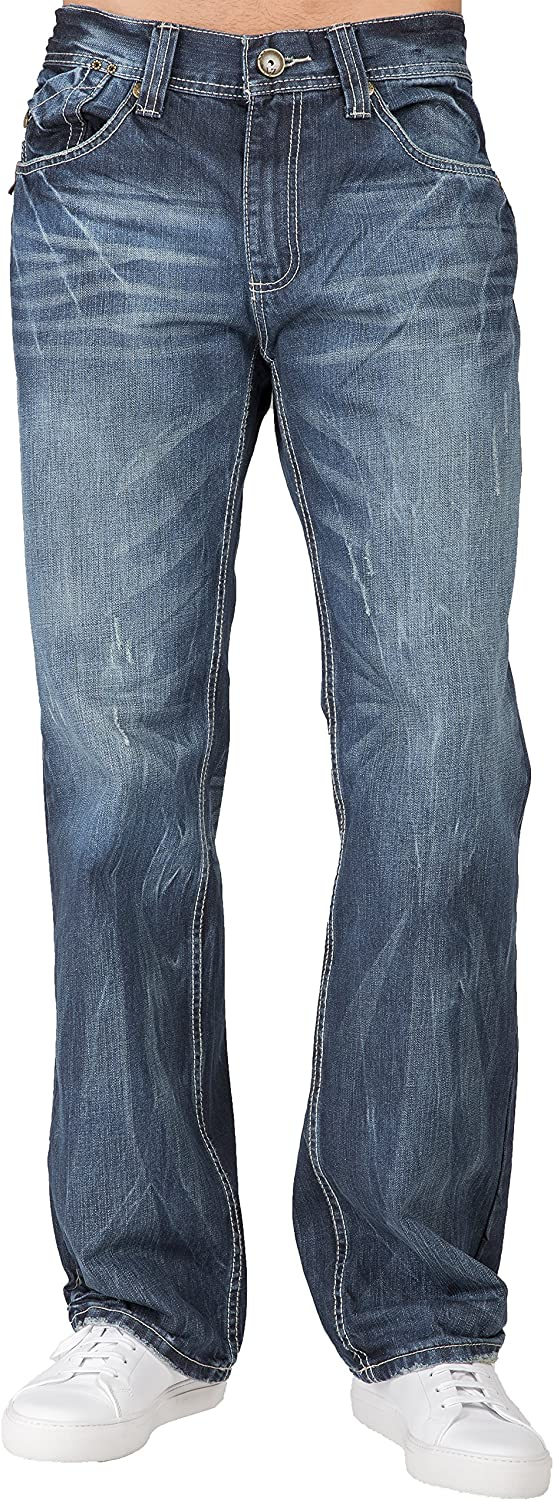 Level 7 Men's Relaxed Straight Translated Handcraf Premium Large-scale sale with Denim Jeans