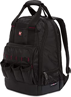 SWISSGEAR 2767 Large Durable Work Pack Tool Backpack With Padded Laptop Compartment | Tool Storage, Part Organization, Wet/Dry Pocket - Black