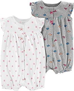 Baby Girls' 2-Pack Romper