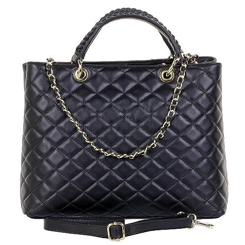 032f87f5b6 Primo Sacchi Italian Quilted Leather Hand Made Large Shoulder Bag Handbag
