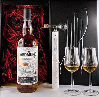 Geschenk The Ardmore Legacy Single Malt Whisky  Glaskugelportionierer  2 Bugatti Gläser