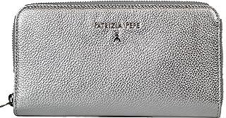 PATRIZIA PEPE portafoglio donna pelle chiuso con zip porta monete GRIGIO