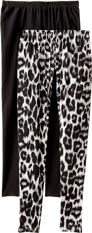 Steve Madden Legwear Women's Leopard and Solid Leggings (2-Pack)